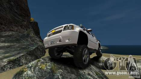 Chevrolet Avalanche 4x4 Truck para GTA 4 Vista posterior izquierda