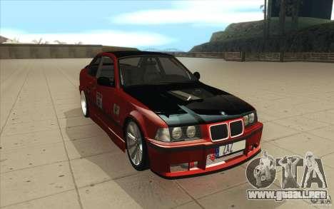 BMW Fan Drift Bolidas para GTA San Andreas vista hacia atrás