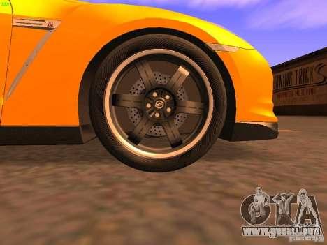 Nissan GT-R SpecV Black Revel para la vista superior GTA San Andreas