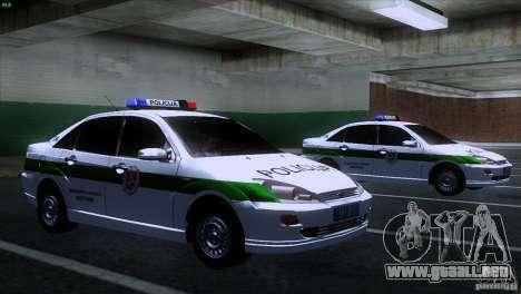 Ford Focus Policija para la visión correcta GTA San Andreas