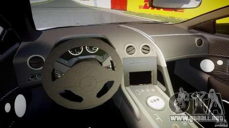 Lamborghini Murcielago LP670-4 SuperVeloce para GTA 4 vista hacia atrás