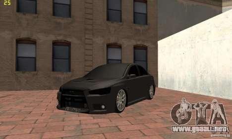 Mitsubishi Lancer Evolution Dag Style para GTA San Andreas
