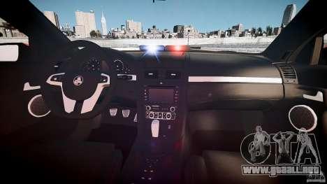 Holden Commodore SS (FBINOoSE) para GTA 4 visión correcta
