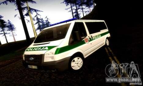 Ford Transit Policija para GTA San Andreas