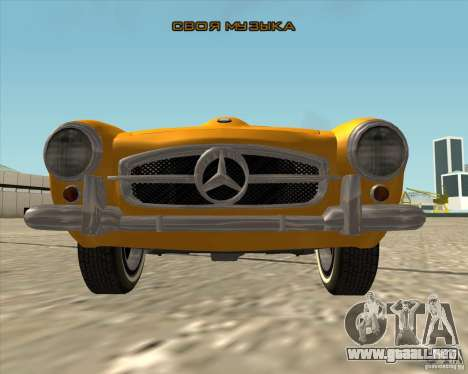 Mercedes Benz 190SL 1960 para la vista superior GTA San Andreas