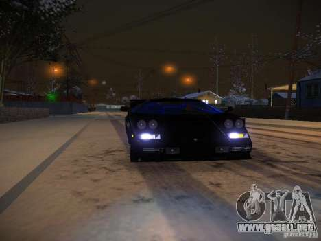 Lamborghini Countach LP5000 para vista lateral GTA San Andreas
