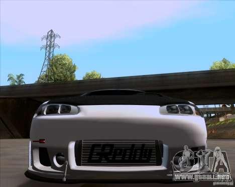 Mitsubishi Eclipse para GTA San Andreas vista posterior izquierda
