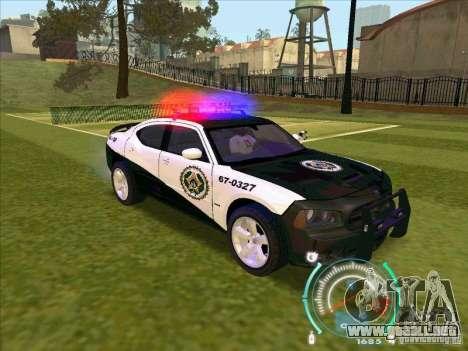 Dodge Charger Policia Civil from Fast Five para la visión correcta GTA San Andreas