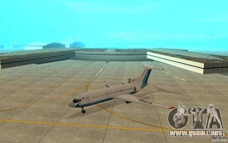 Yak-42 d Scat (Kazajstán) para GTA San Andreas left
