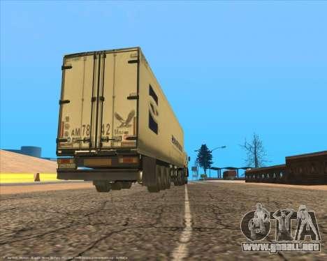 Semi-remolque para la visión correcta GTA San Andreas