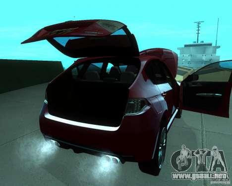 Subaru Impreza WRX STI Stock para la visión correcta GTA San Andreas
