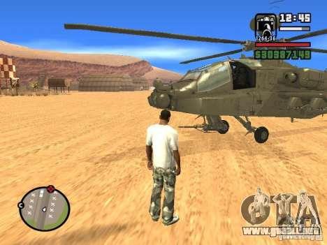 AH-64D Longbow Apache para la visión correcta GTA San Andreas