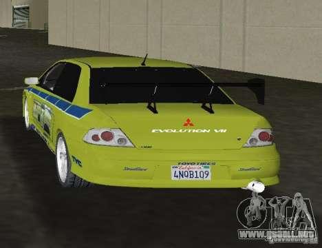 Mitsubishi Lancer Evolution VII para GTA Vice City vista lateral izquierdo