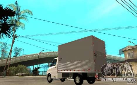 Mercedes-Benz Sprinter Truck para GTA San Andreas vista posterior izquierda
