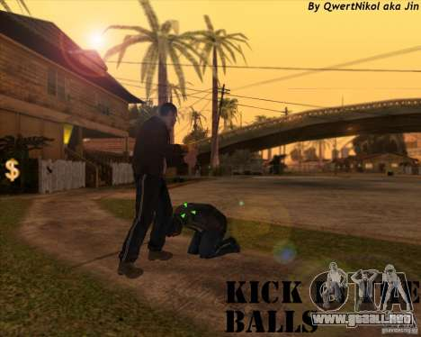Kick in the balls para GTA San Andreas