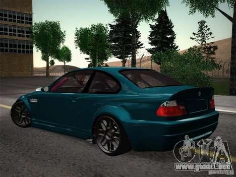 BMW E46 Drift II para GTA San Andreas vista hacia atrás