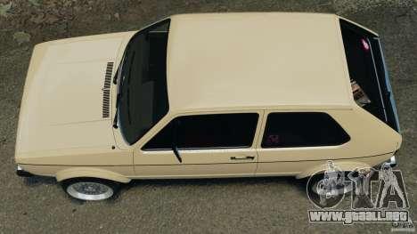 Volkswagen Golf Mk1 Stance para GTA 4 visión correcta