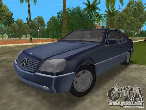 Mercedes-Benz 600SEC (C140) 1992 para GTA Vice City vista posterior