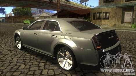 Chrysler 300 SRT-8 2011 V1.0 para GTA San Andreas vista posterior izquierda