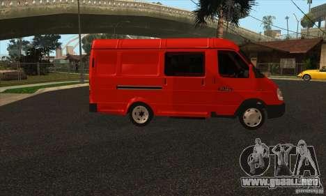 Gacela 2705 carga pasajeros para la visión correcta GTA San Andreas