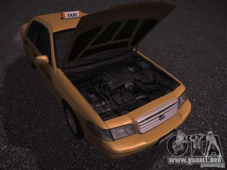 Ford Crown Victoria Taxi 2003 para GTA San Andreas vista hacia atrás