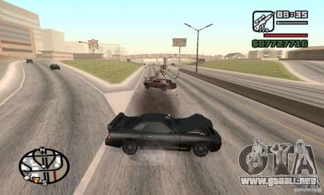 La pérdida de vidas en el accidente para GTA San Andreas segunda pantalla