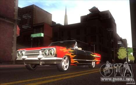 Savanna HD para GTA San Andreas vista hacia atrás