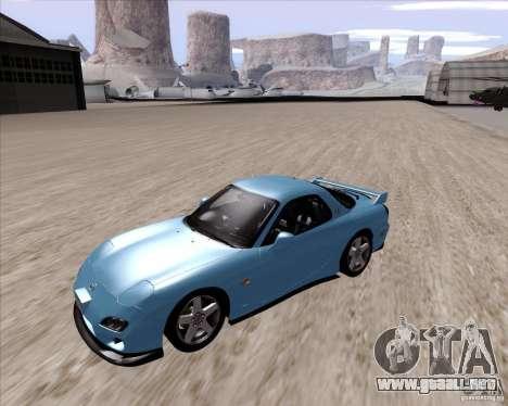 Mazda RX7 2002 FD3S SPIRIT-R (Type RS) para GTA San Andreas left