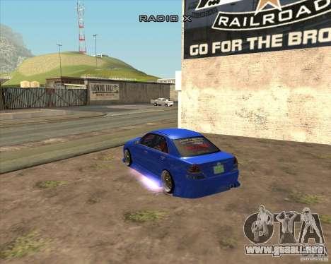 Toyota JZX110 make 2 para GTA San Andreas left