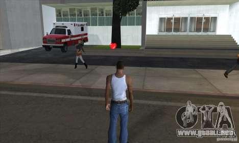 Botiquines de primeros auxilios para GTA San Andreas sucesivamente de pantalla
