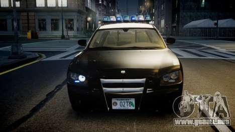 Dodge Charger Florida Highway Patrol [ELS] para GTA 4 vista lateral