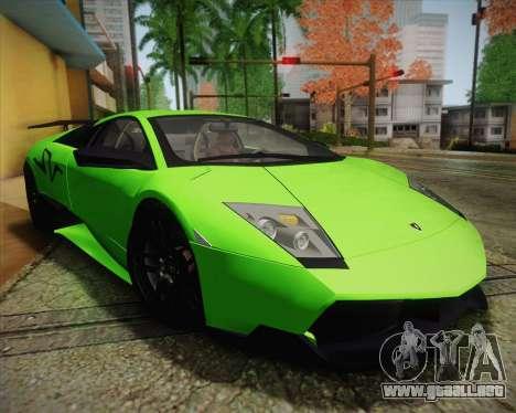 Lamborghini Murcielago LP 670/4 SV Fixed Version para vista lateral GTA San Andreas