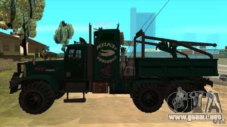 KrAZ 255 B1 Krazy-cocodrilo para GTA San Andreas left
