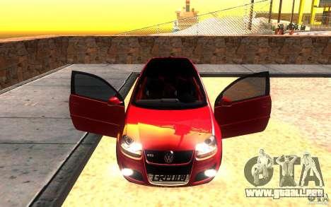 VolksWagen Golf GTI MK5 para la vista superior GTA San Andreas