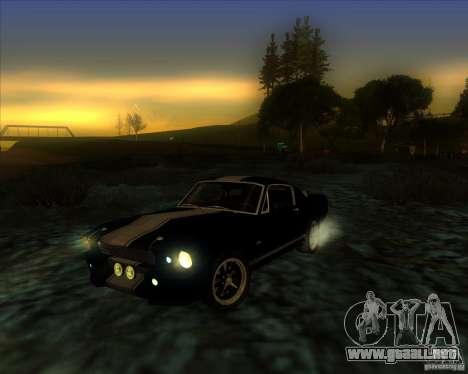 Shelby GT500 Eleanora clone para visión interna GTA San Andreas