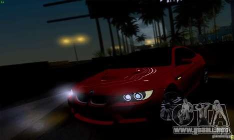 BMW M3 E92 v1.0 para la visión correcta GTA San Andreas