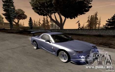 Mazda RX-7 Hellalush para GTA San Andreas left