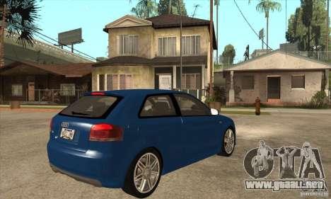 Audi S3 2007 - Stock para la visión correcta GTA San Andreas