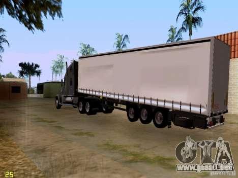 Freightliner Coronado para GTA San Andreas vista hacia atrás