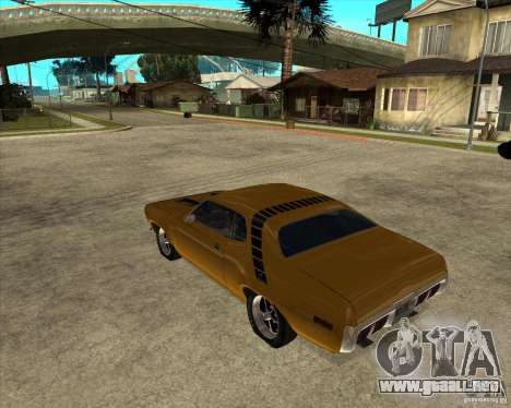 1971 Plymouth Roadrunner 440 para GTA San Andreas left