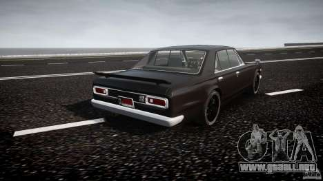 Nissan Skyline GC10 2000 GT v1.1 para GTA 4 vista superior