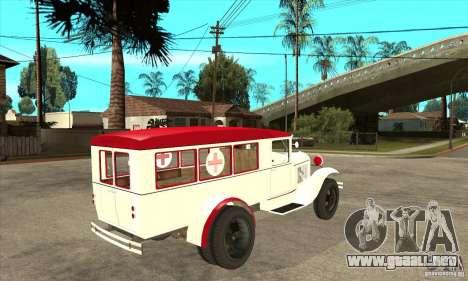 Ambulancia GAZ AA para la visión correcta GTA San Andreas