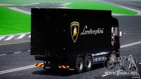 Scania R580 Tandem para GTA 4 vista interior