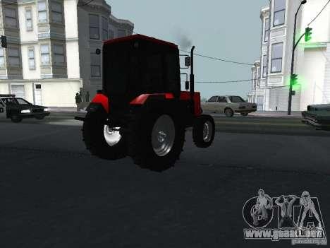 Tractor MTF 1025 para GTA San Andreas vista posterior izquierda