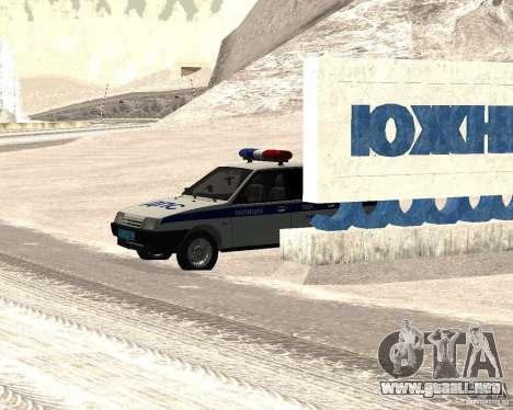 VAZ 2109 DPS para GTA San Andreas vista posterior izquierda