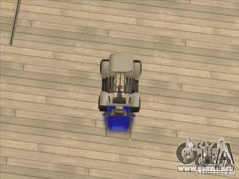 Forklift extreem v2 para GTA San Andreas vista hacia atrás