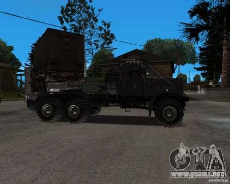 KrAZ 255 + remolque artict2 para la visión correcta GTA San Andreas
