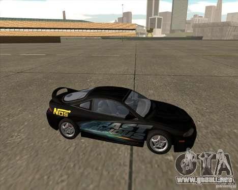 Mitsubishi Eclipse GST de NFS Carbon para GTA San Andreas vista posterior izquierda