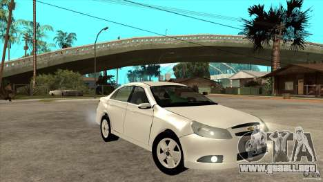 Chevrolet Epica 2008 para GTA San Andreas vista hacia atrás