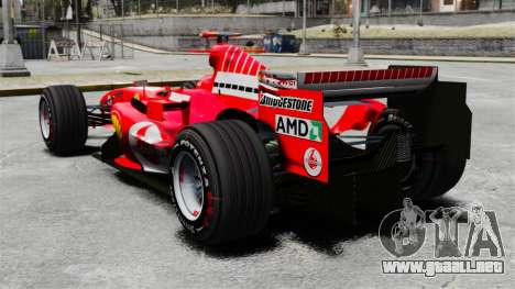 Ferrari F2005 para GTA 4 Vista posterior izquierda